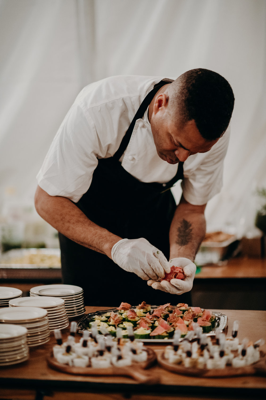Darren Criss and Mia Swier Wedding Food