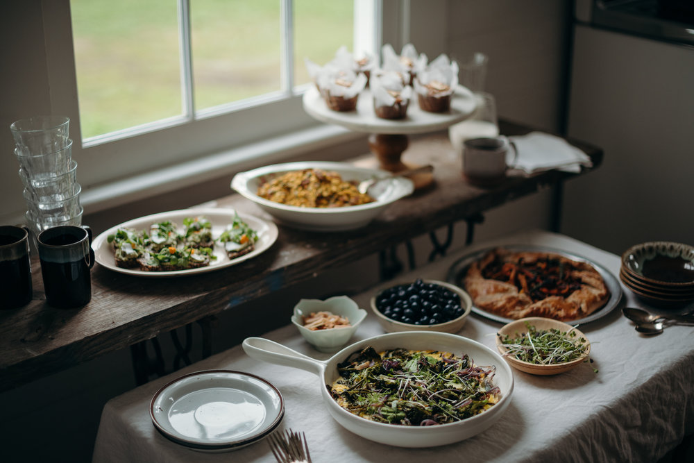 Dirt Farmer's Table New Orleans Catering Spread