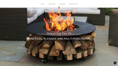 Deluxe Log Fire Pit Website
