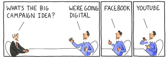 Cartoon - Digital Marketing Strategy vs Tactics