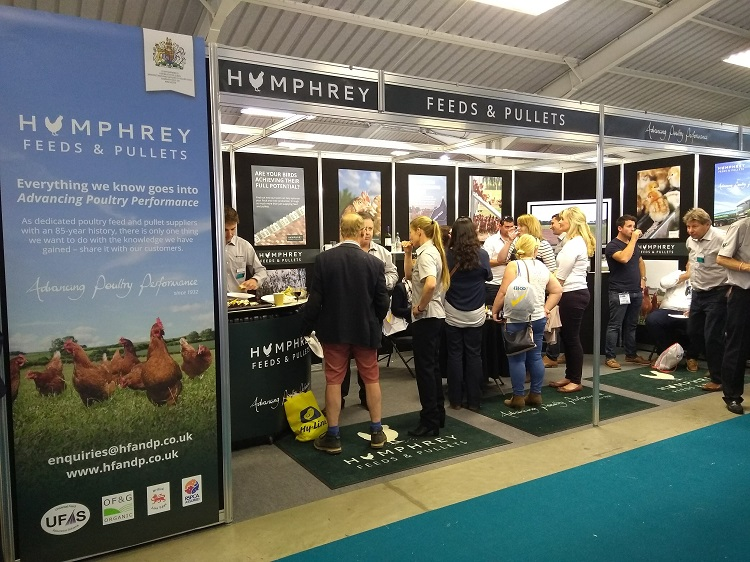 Humprey feeds at pig and poultry show