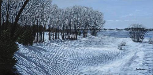 Snow Drifts at Merrett Reservoir