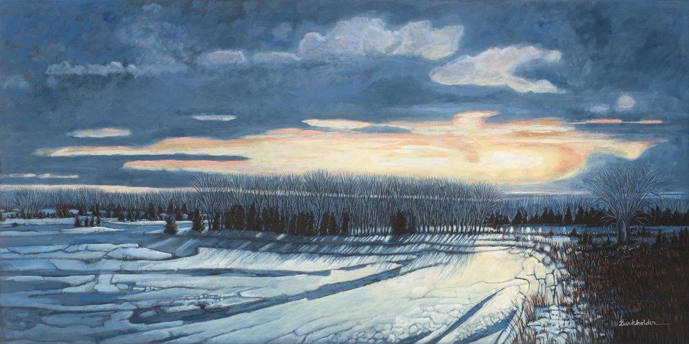 Icy Sunset Near North Platte