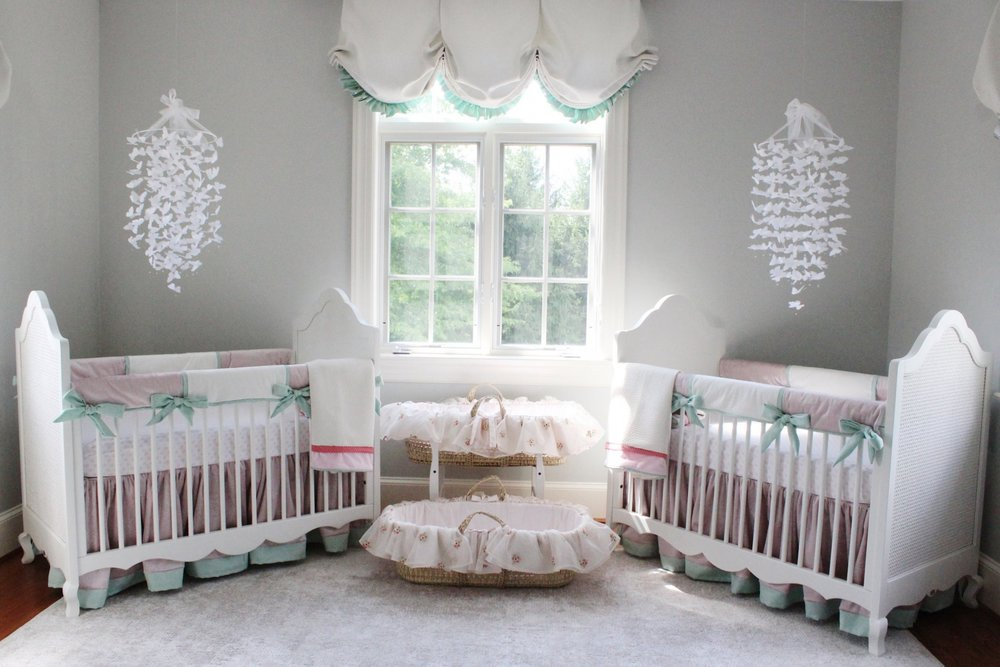 Katz nursery reveal for twin girls