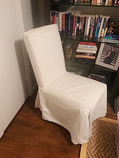 BEFORE: Parson Slipcover Chair