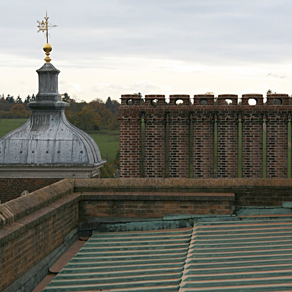Estates - We continue to provide landscape planning expertise in relation to a number of large estates, including Milton Hall in Peterborough and  Hatfield House in Hertfordshire, where we work with Gascoyne Cecil Estates.Photograph: The Rooftop of Hatfield House Learn more in Projects