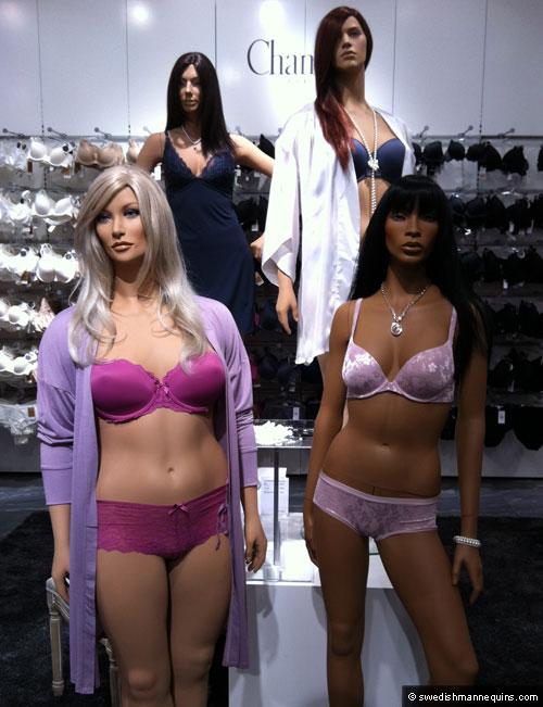 Mannequins in Ahlens stores, Sweden