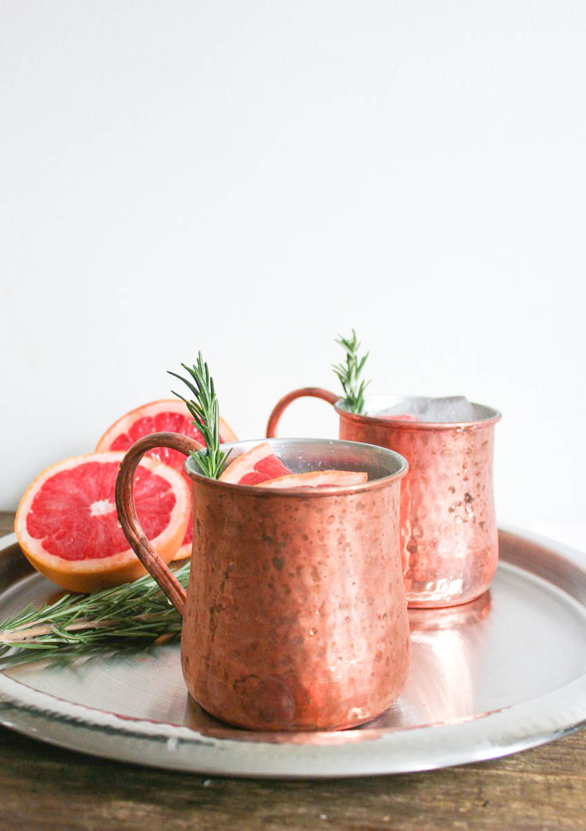GRAPEFRUIT ROSEMARY MULE via Swirl Nation Blog