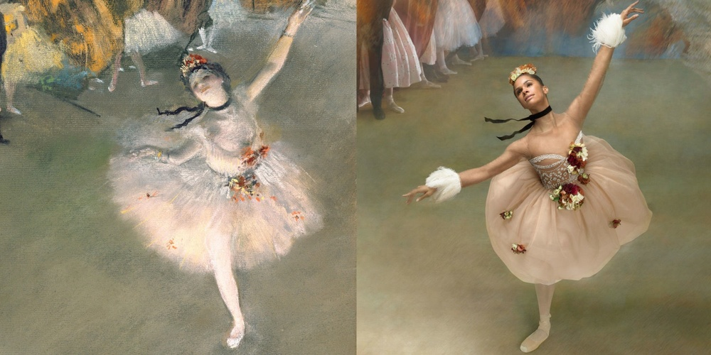 "Copeland re-creating Degas' ""The Star  ."""