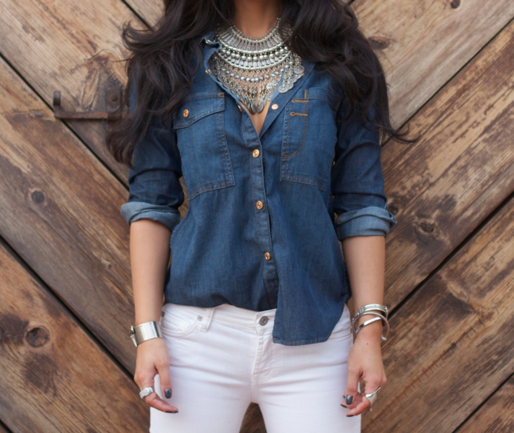 SWIRL STYLE DARK AND WHITE DENIM via Swirl Nation Blog
