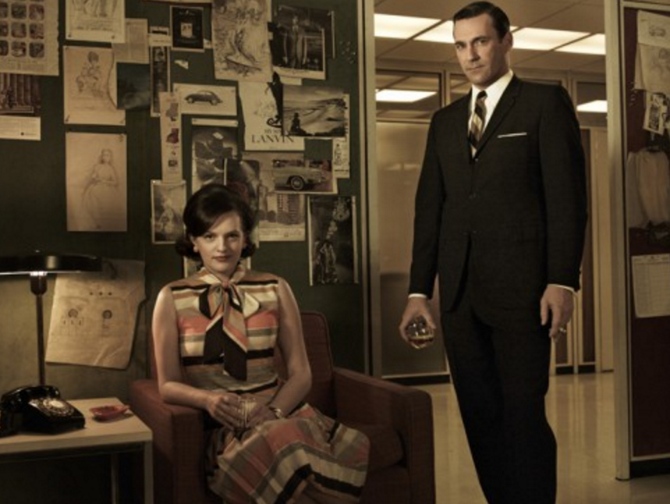 Yes,   this   Don Draper. Peggy Olson's looking pretty slick, too, I have to admit.