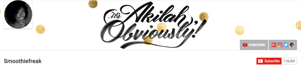 YOU TUBE CHANNEL: IT'S AKILAH, OBVIOUSLY via Swirl Nation Blog