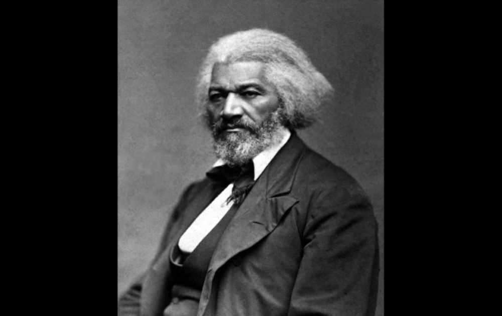 Frederick Douglass. The abolitionist was born to a black mother and white father.