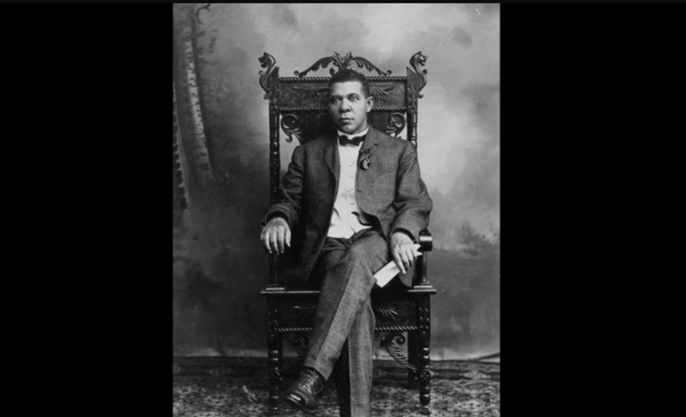 Booker T. Washington. The champion for black rights was born to a black mother and white father.