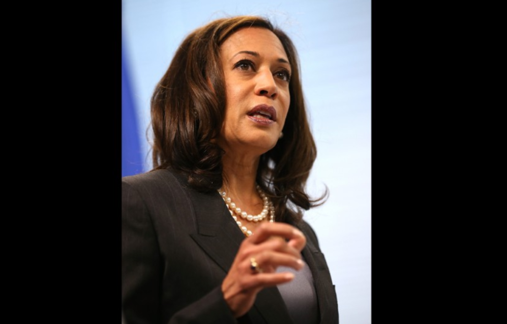 Kamala Harris. Harris is the California Attorney General and was born to an Indian mother and a Jamaican father. She is the first female, Asian-American and African-American lawyer for the state.