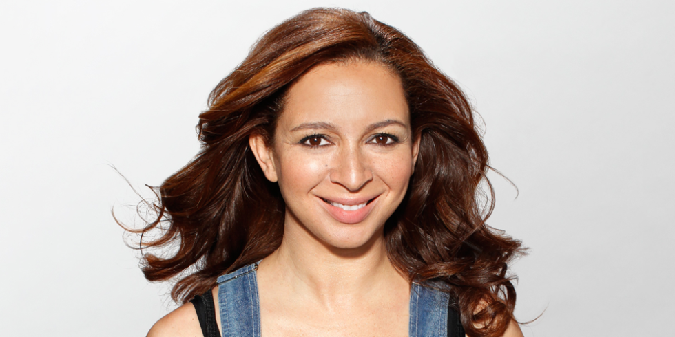 Maya Rudolph. The actress has a black mother and a white father.