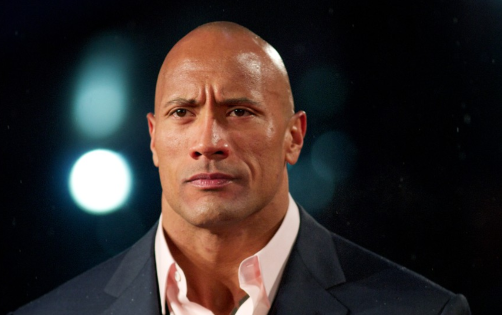Dwayne Johnson aka The Rock. The actor, comedian and athlete was born to a black father and a Samoan mother.