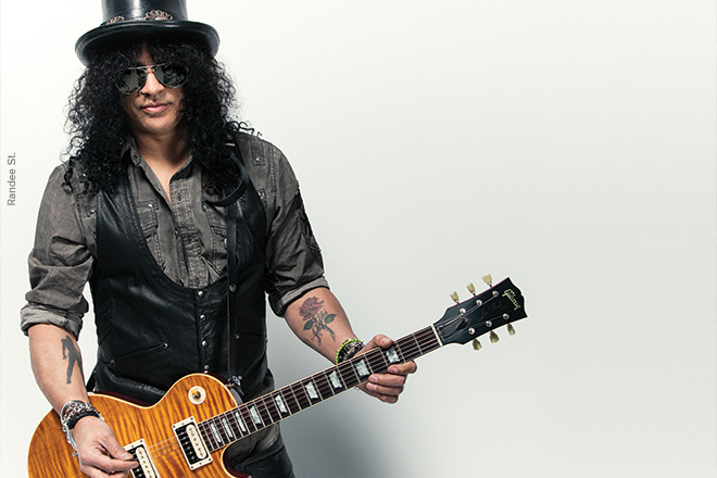 Slash aka Saul Hudson. The guitarist was born to a black mother and a white father.