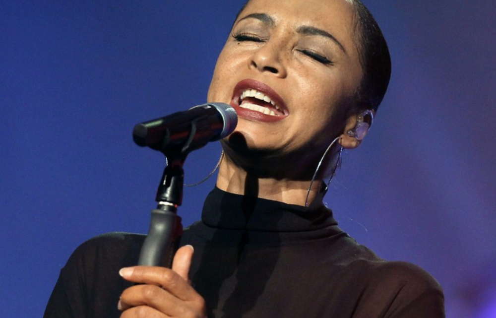 Sade. The singer was born to a Nigerian father and white mother.