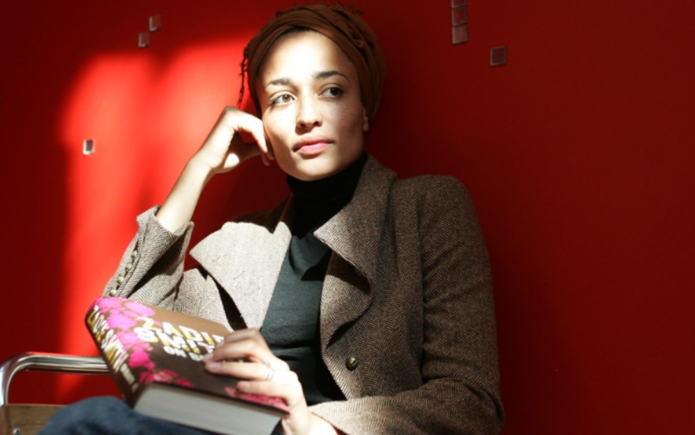 Zadie Smith. The author was born to a Jamaican mother and white father.