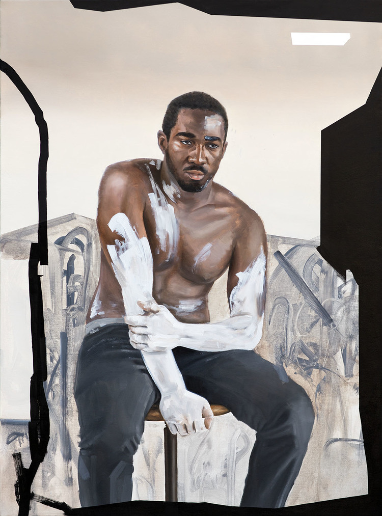 KOHSHIN FINLEY //   Camouflage for the Modern Man , 2015  // Oil and Mixed Media on Canvas