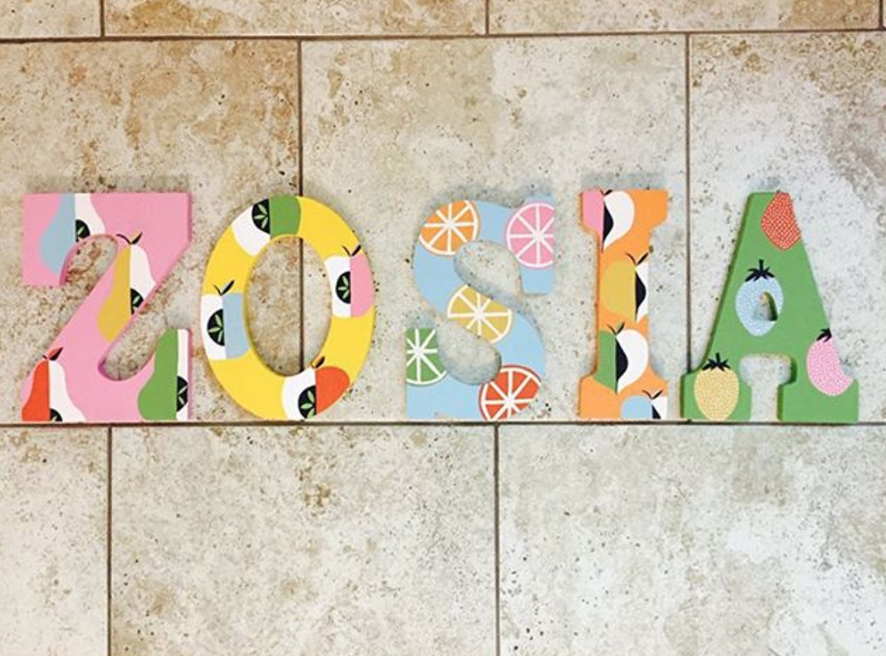 LEOu0027S LETTERS: CUSTOM PAINTED LETTERS FOR KIDu0027S ROOMS AND NURSERIES Via  Swirl Nation Blog