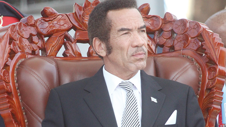 Ian Khama, current President of Botswana, son of Seretse and Ruth