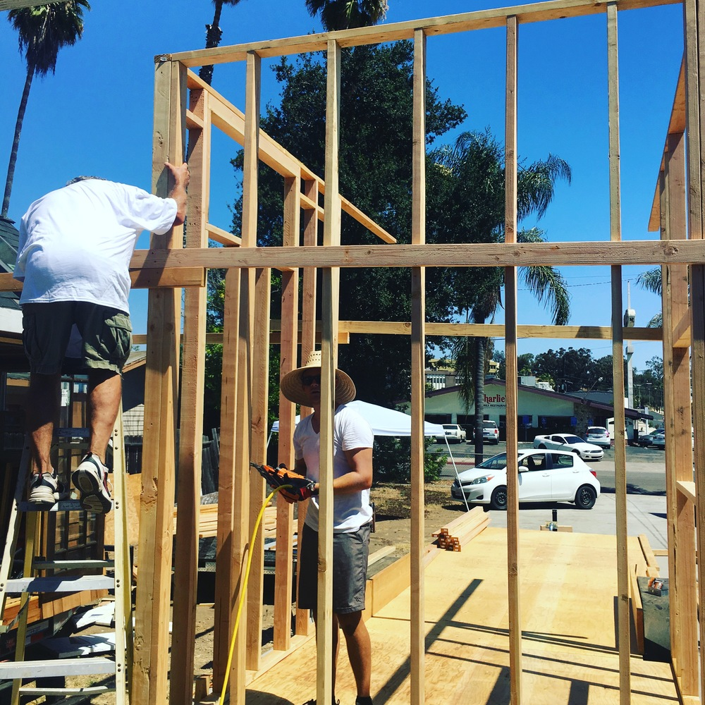 My first tiny home design is going up in Escondido! Built by the fabulous Habitat Tiny Homes.