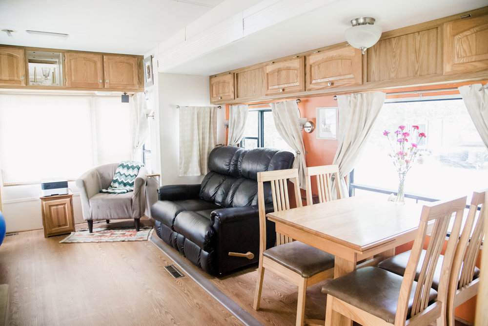 FUNKY FRESH RV REMODEL - A Bright and Welcoming Remodel of a Full-time RV Home