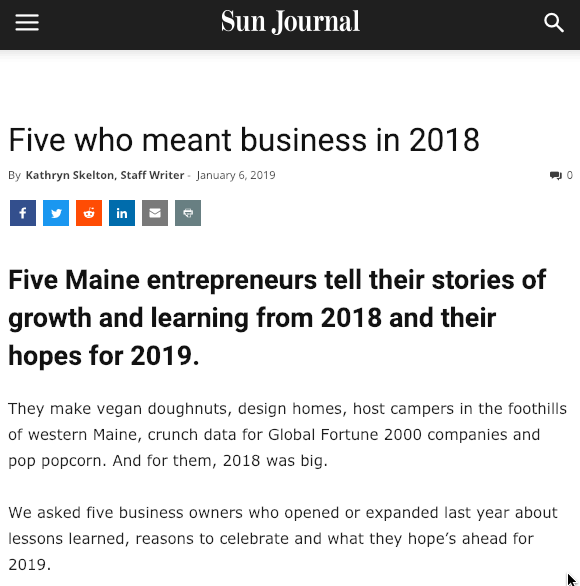 I was in the newspaper again last Sunday. 📰 WOOP! I dislike being the center of attention but I have to admit, I love this! 🤗 It's a quick read (I'm the second business down). Check it out! http://bit.ly/2ADDkPs