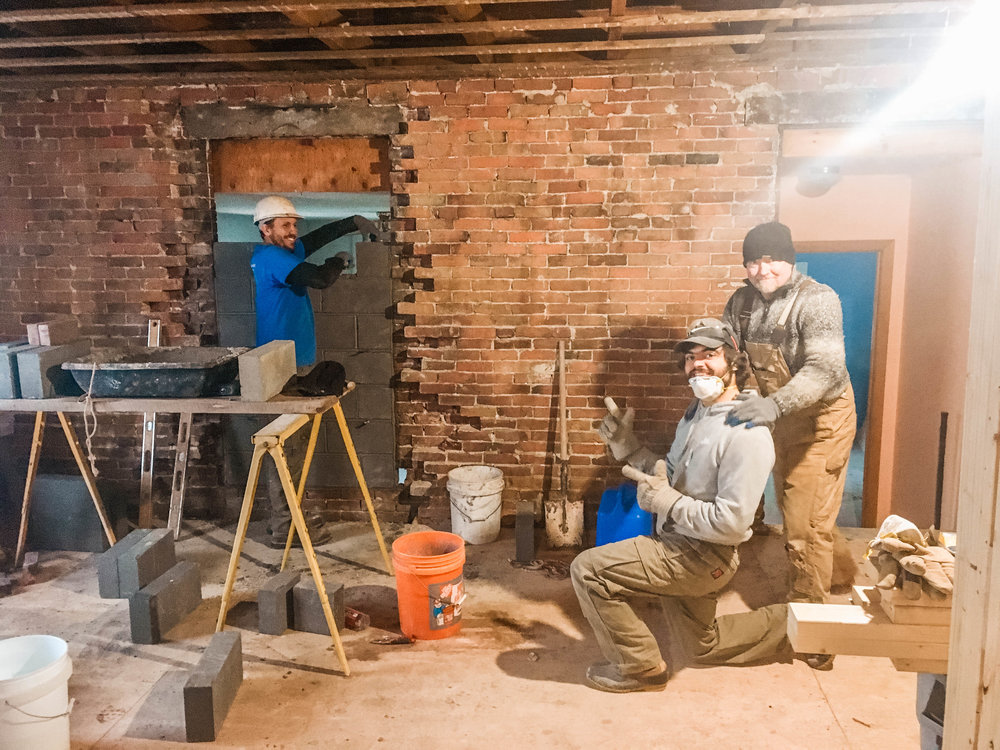That 7-unit apartment building is well underway! 🏢 Walls being framed and old brick being repointed...it's starting to take shape.  Big thanks to the builders and masons for smiling for the camera. 🔨 Also, thanks for building our building. 🤗  If you're interested in renovating an old building, let me know. I'm happy to offer a free initial consult to get you started on the right track.  http://bit.ly/2CC3cLB