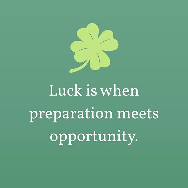 "A life lesson I was taught at a young age by my dad, the one and only @theman064 🍀Want more luck in your life? It's all about having the sense to see the opportunities around you, and the drive to be prepared to seize the moment.  Luck isn't something that happens to you, it's something you create with a positive attitude and hard work. ""The harder I work, the luckier I get"". Happy St. Patrick's Day y'all 🍀"
