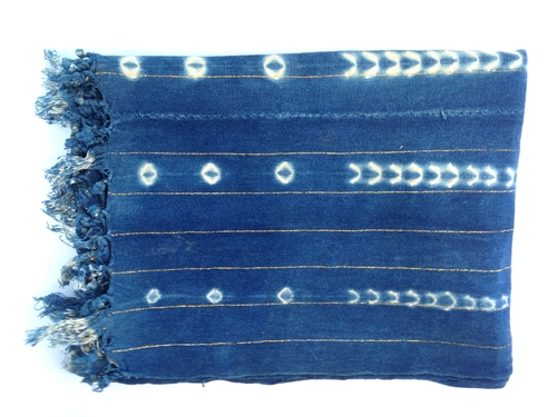 Samira Vintage Indigo Throw