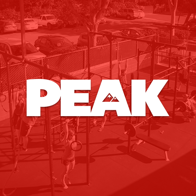 Peak is a strength and conditioning program that encompasses a comprehensive set of movement principles. We teach progressions and technical skills in a format that is scalable for beginners to highly skilled athletes. Our programing includes a balanced mix of Olympic and Powerlifting, Gymnastic movements, Metabolic conditioning and targeted Mobility