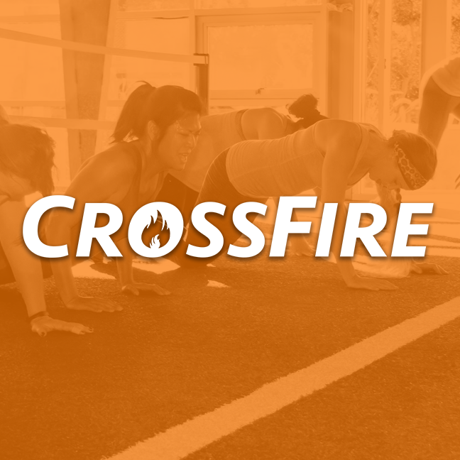Crossfire is a high intensity and low impact alternative to strength and conditioning. We utilize functional body movements and equipment like wall balls and light kettle bells to build strength and learn new skills while still focusing on metabolic conditioning in a bootcamp format. This program is extremely scalable and also included daily mobility work.