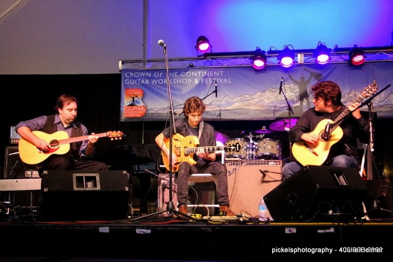 Performing with The Trifield Guitar Project at The Crown of The Continent Guitar Festival- Montana- August, 2013
