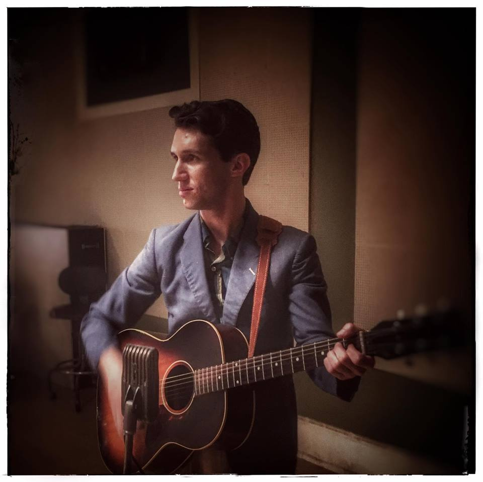 "Playing guitar on the set of CMT's Tv series ""Sun Records.""- Memphis- July, 2016"