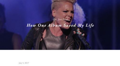 "How One Album Saved My Life | EFNIKS - I have always said that Pink's second album; ""Mizundastood"" saved my life. Each track, each lyric spoke to me on a spiritual level, one that no other artist or album has even been able to accomplish in my life."