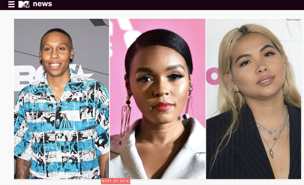 MTV NEWS | WHY 2018 WAS A TRANSFORMATIVE, GROUNDBREAKING YEAR FOR QTPOC CREATORS - From films to television to music, 2018 marked a much-needed change in the way we saw queer representation in entertainment. With certain Black and Brown LGBTQ+ artists owning their talent and identity, a common theme throughout most of the year was visibility.
