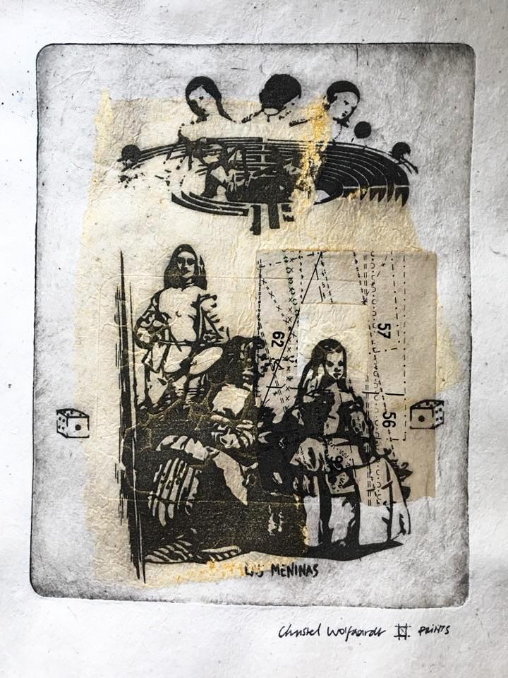 Las Meninas L'enfant d'ore/adoré, solarplate, chine collé