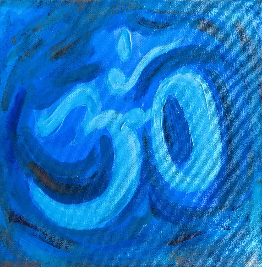 Om in Blue (Mini)