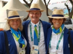 The USA needs more officials to serve at the highest levels of the sport. Do you want to be an Olympic Judge or Technical Delegate? The Roger Haller Scholarship can help you achieve your aims. Rio Eventing Ground Jury: l-r Sandy Phillips, Andrew Bennie, Marilyn Payne. (Photo courtesy of Helen Christie)