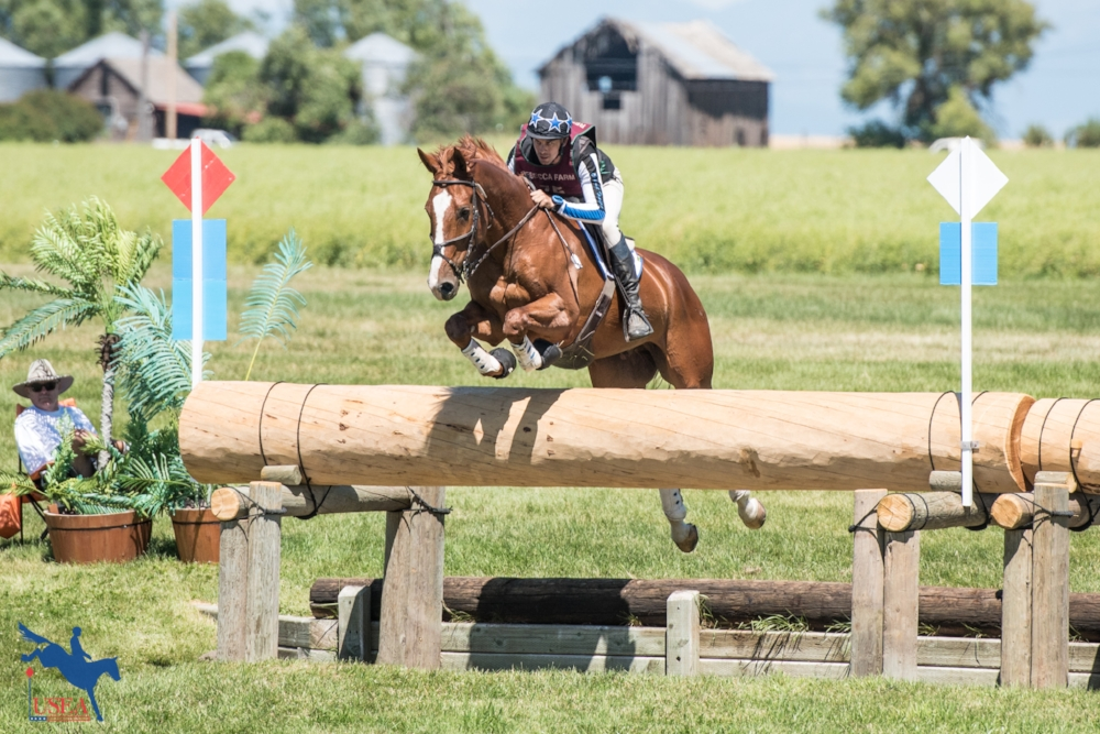 Alexis Helffrich and London Town competing at the 2017 Rebecca Farm CIC3*. USEA/Leslie Mintz Photo.