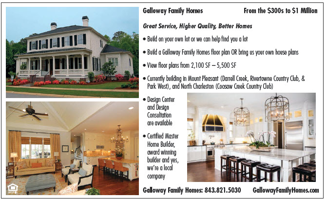 Build On Your Own Lot Ad (as seen in the Charleston New Homes Guide)