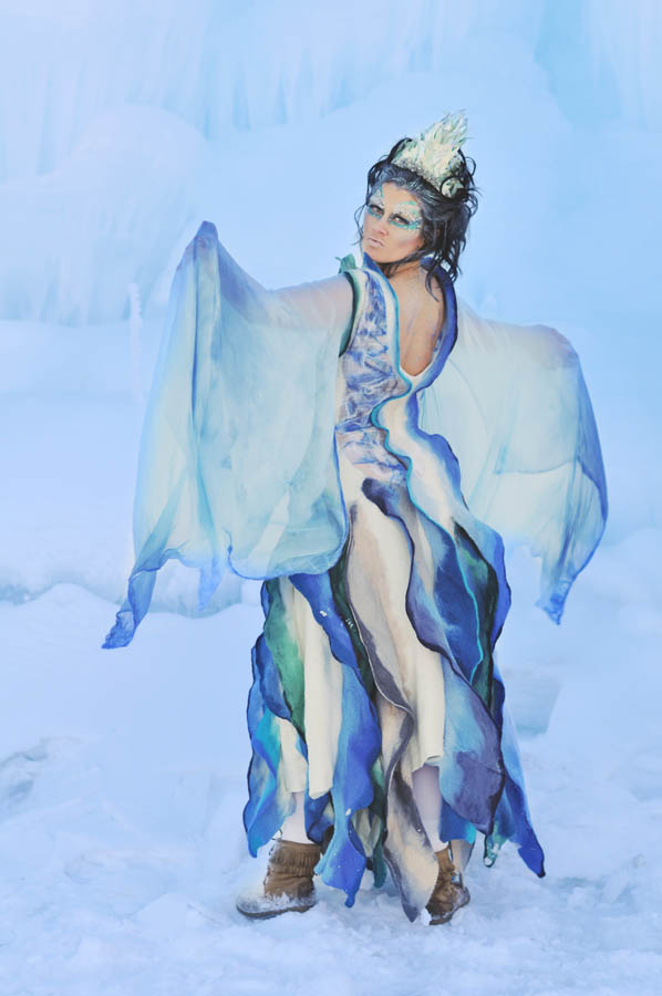 Stephanie H Ice Queen Felting Dress made of wool 5.jpg