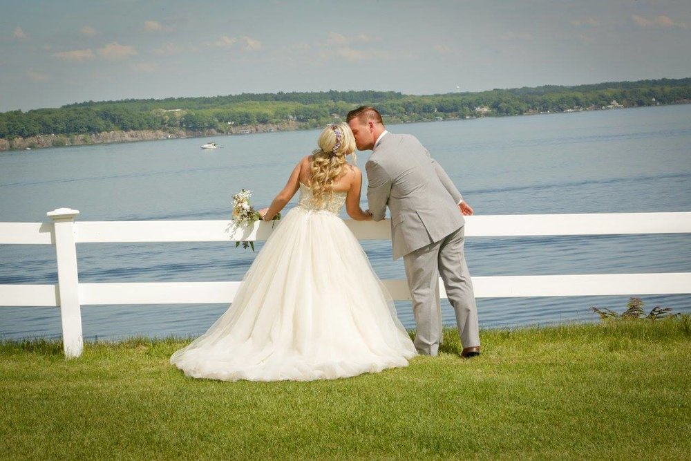 Geneva Country Club Seneca Lake overview wedding photo