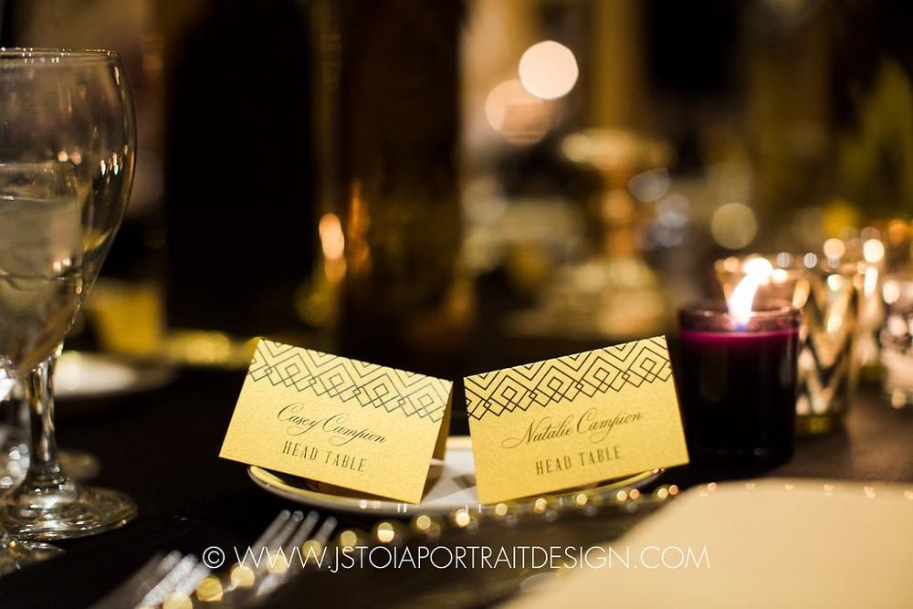 Art Deco Wedding Place Cards