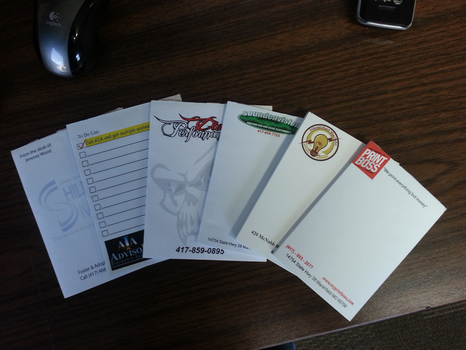 Full Color Note Pads For Home And Office Print Boss Marshfield