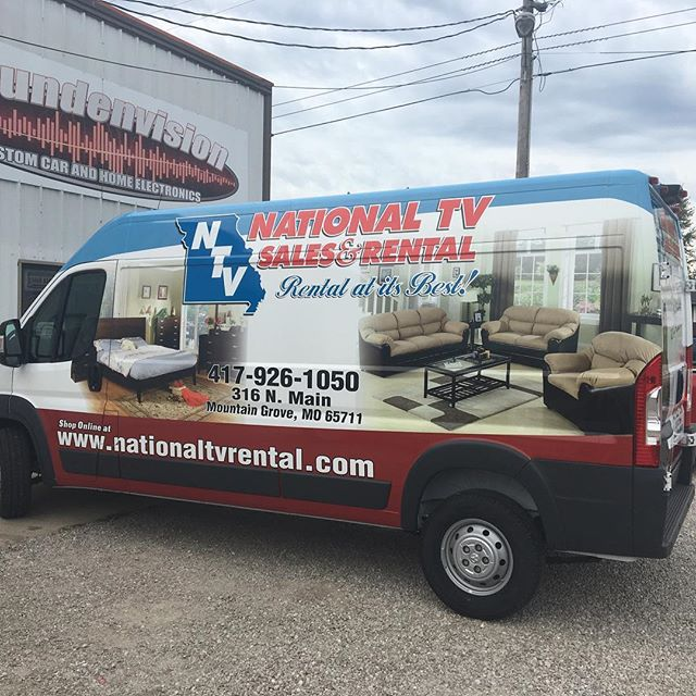 Wrapped a big one for National TV.  #wrap #print #promaster #vinyl