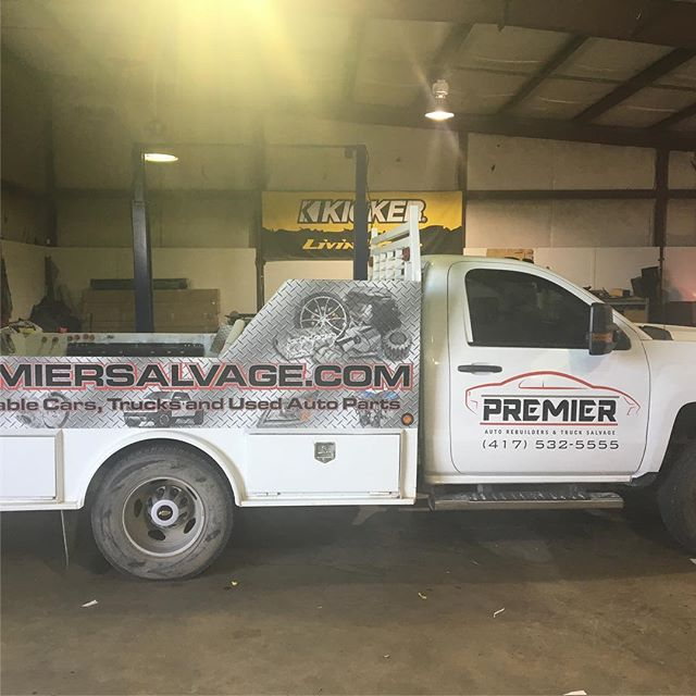 Half wrap for Premier Salvage.  #wrap #print #duramax
